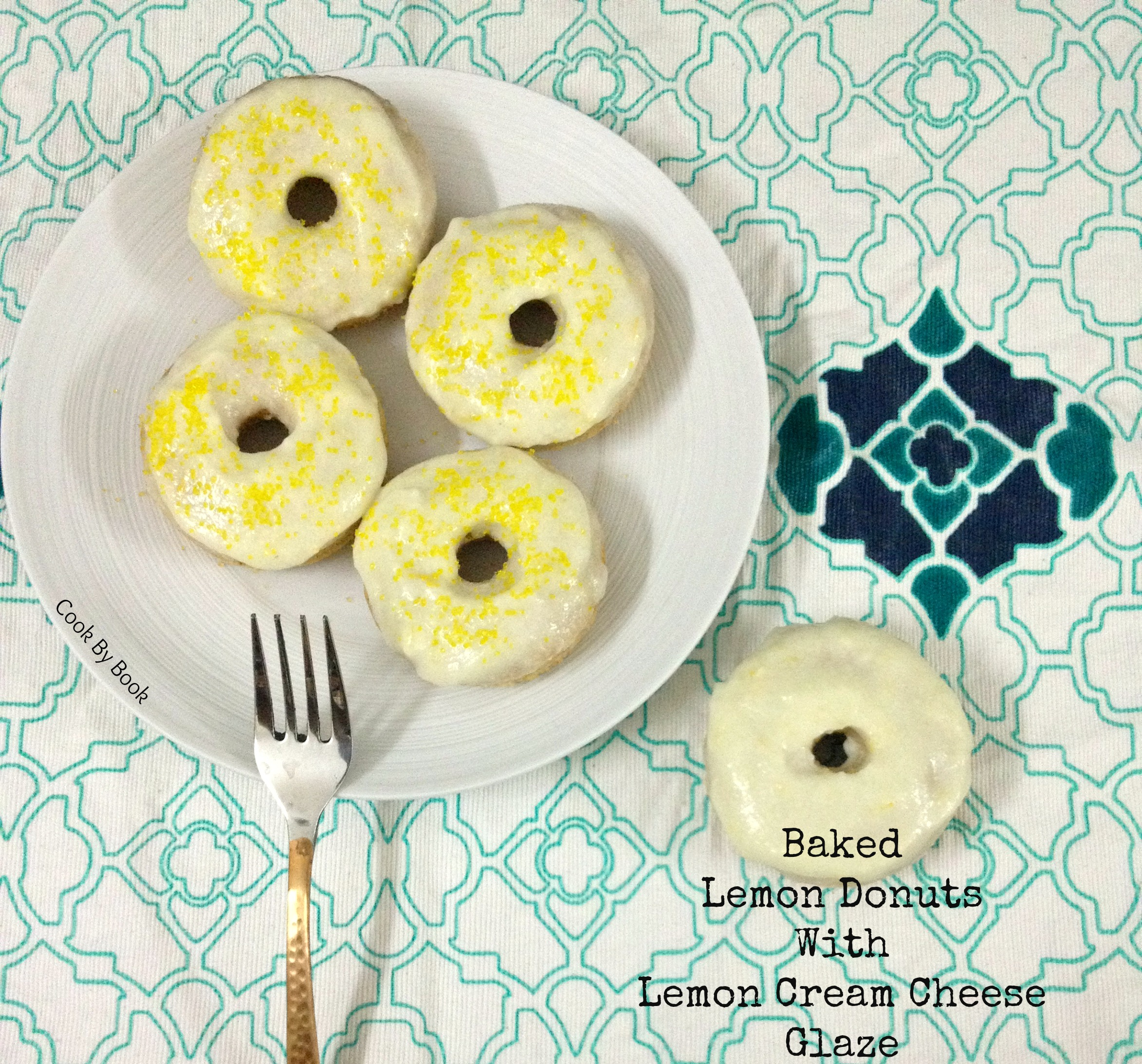 Baked Lemon Donuts with Lemon Cream Cheese Glaze1