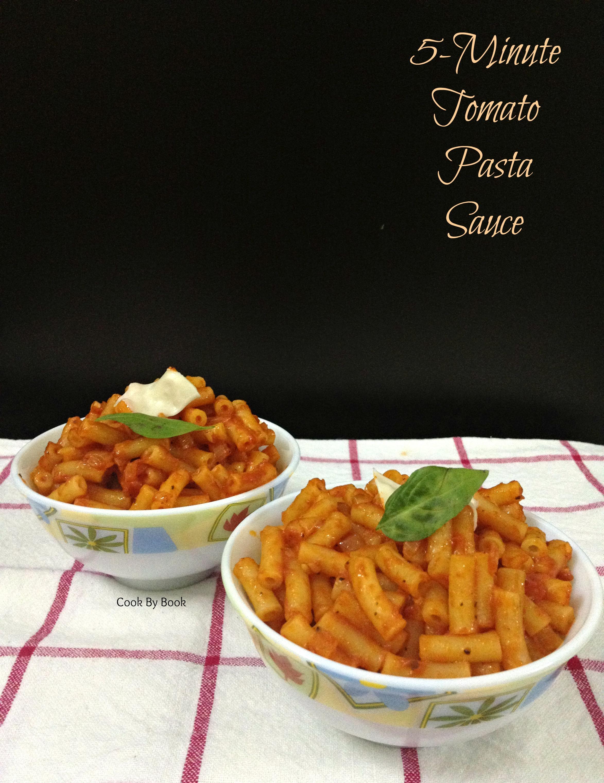 5-Minutes Tomato Pasta Sauce1