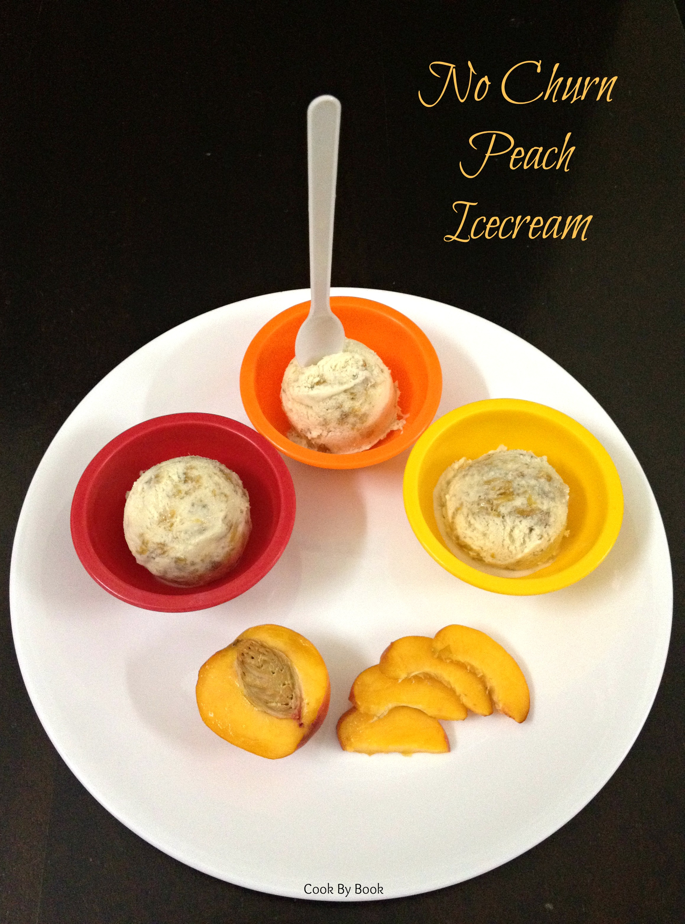 No Churn Fresh Peach Icecream1