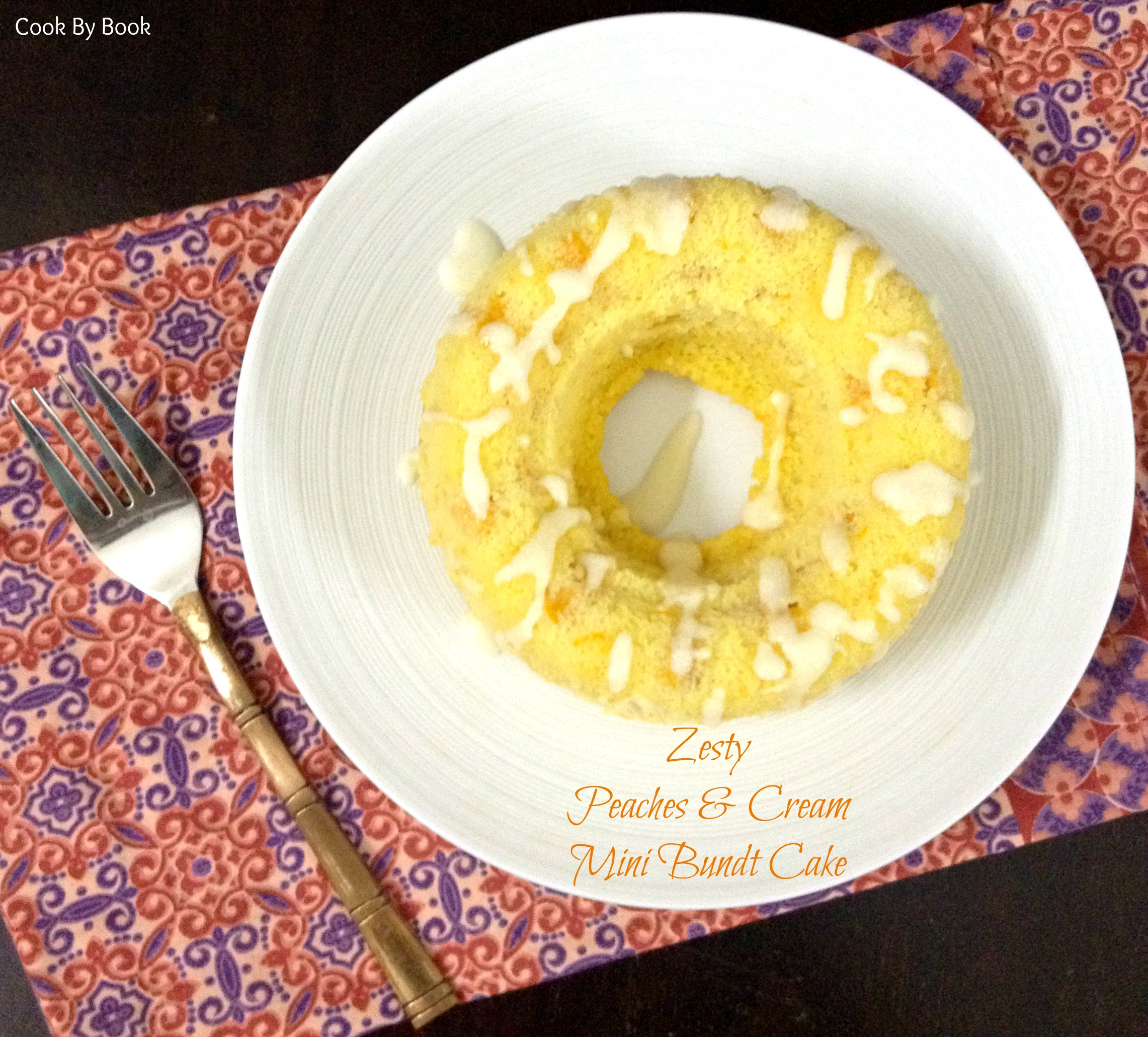 Zesty Peaches & Cream Mini Bundt Cake1