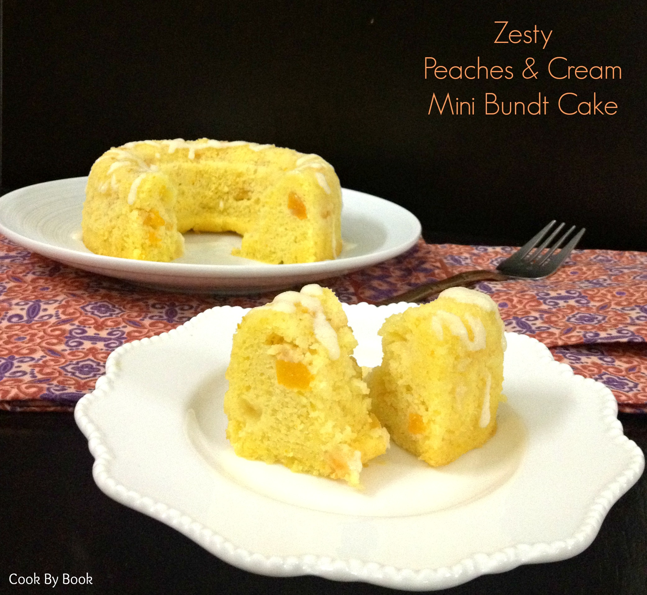 Zesty Peaches & Cream Mini Bundt Cake4